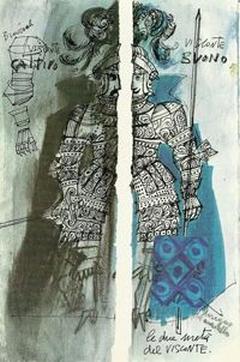 Lele Luzzati, Il visconte dimezzato, Torino, Einaudi (libri per ragazzi), 1975