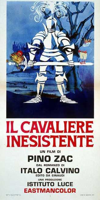 locandina di Pino Zac, Il cavaliere inesistente, Istituto luce, 1969