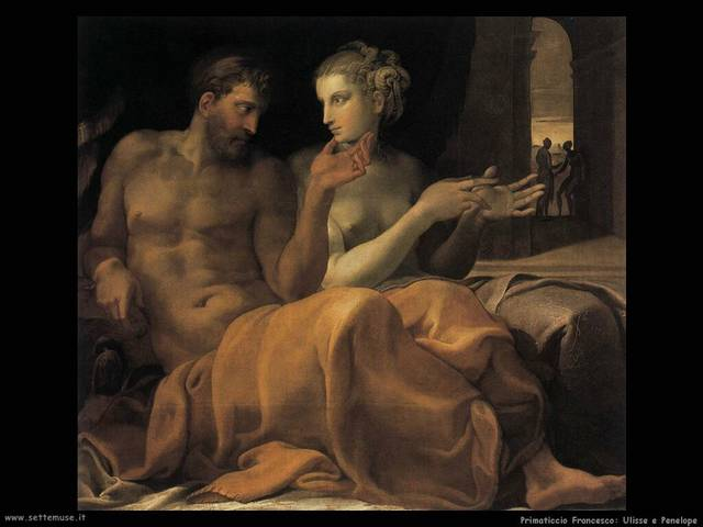 Francesco Primaticcio, Penelope e Ulisse, 1560 ca