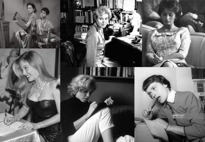 Attrici che scrivono (Goliarda Sapienza, Elsa de' Giorgi, Sophia Loren, Moana Pozzi, Marilyn Monroe, Franca Valeri)