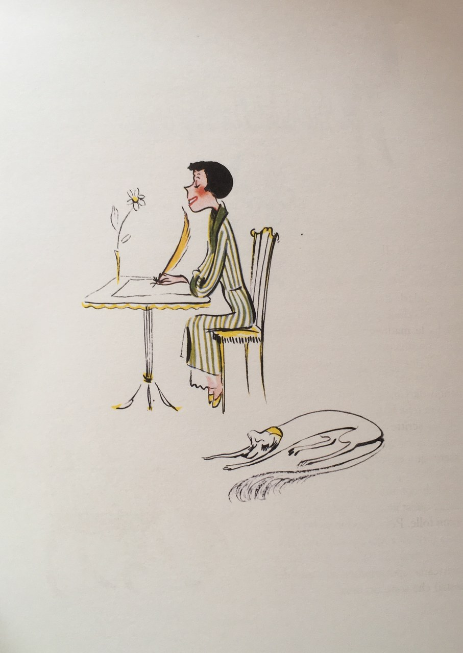 Illustrazione di Colette Rosselli del Diario di una signorina snob di Franca Valeri, Torino, Lindau, 2003.