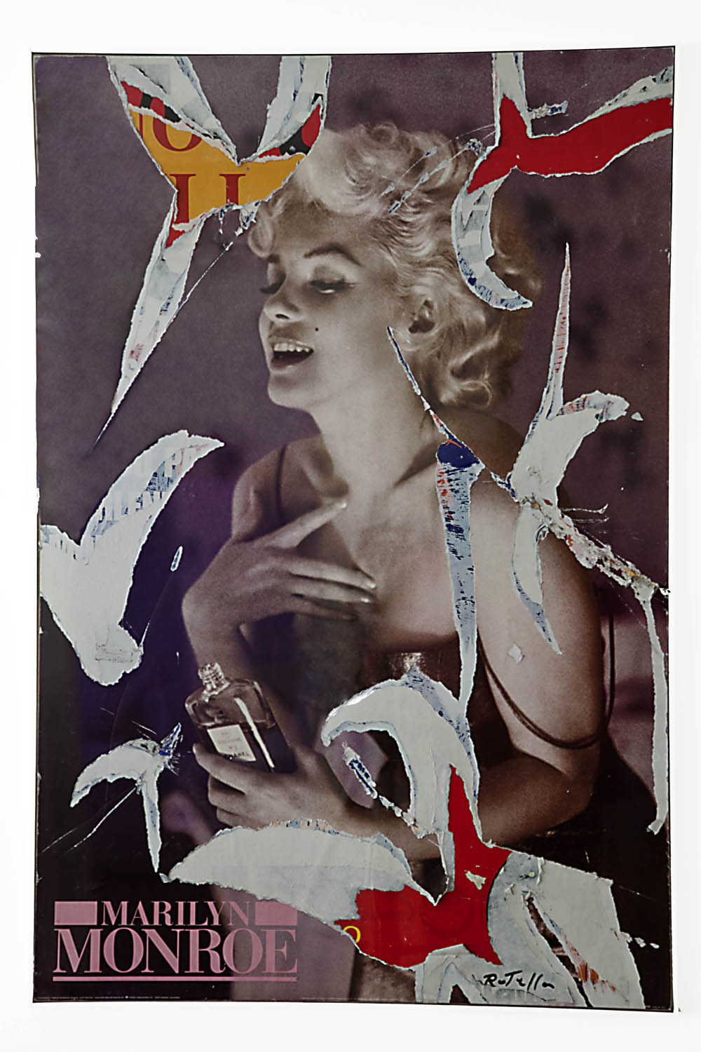 ©Mimmo Rotella, Il profumo di Marilyn, decollage