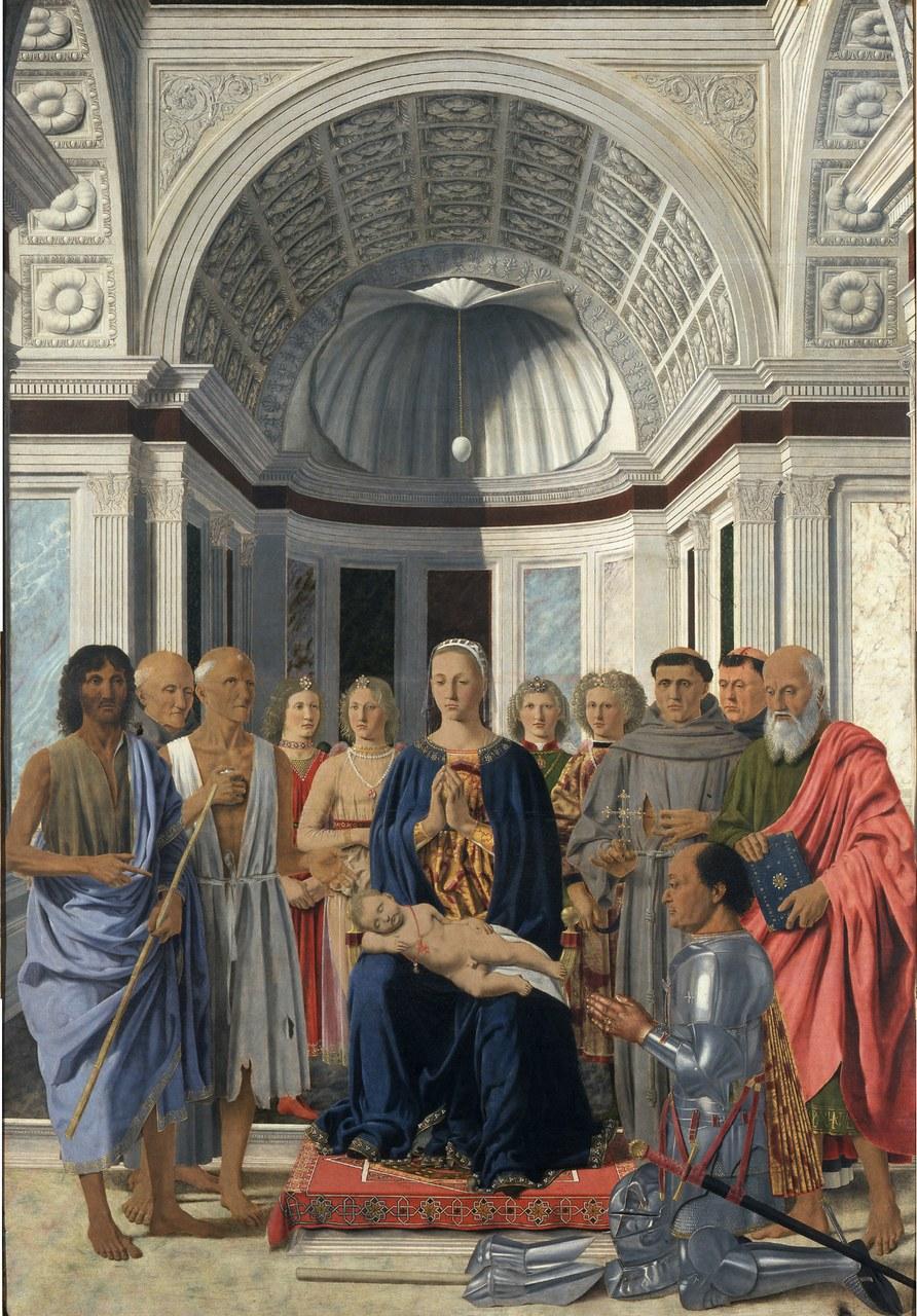 Piero della Francesca, Pala di Montefeltro, 1472 – Pinacoteca di Brera