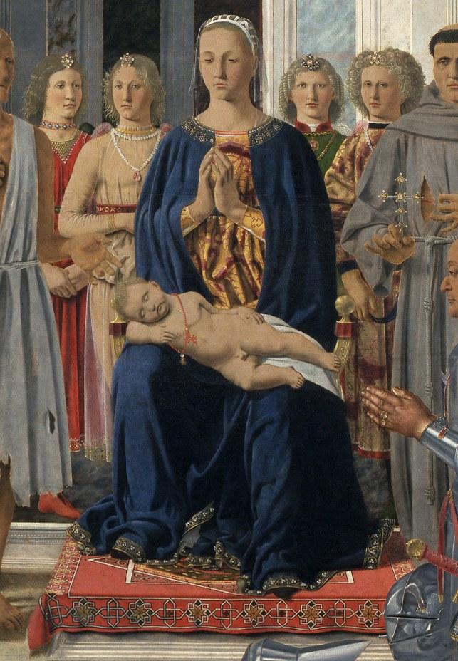 Piero della Francesca, Pala di Montefeltro, 1472 – Pinacoteca di Brera, particolare