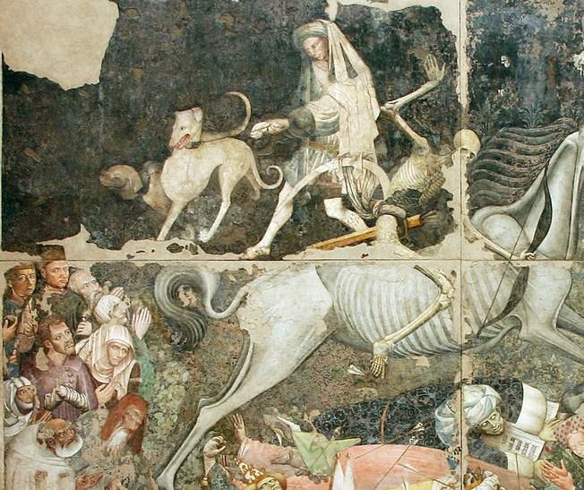 Maestro del Trionfo della Morte, Trionfo della Morte, particolare, Palermo, Galleria Nazionale della Sicilia, 1444-1446
