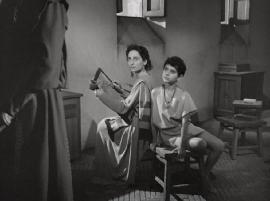 Goliarda Sapienza nei panni di Letizia, in Fabiola (1948) di Alessandro Blasetti