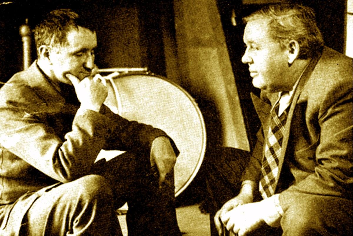 Bertolt Brecht e Charles Laughton