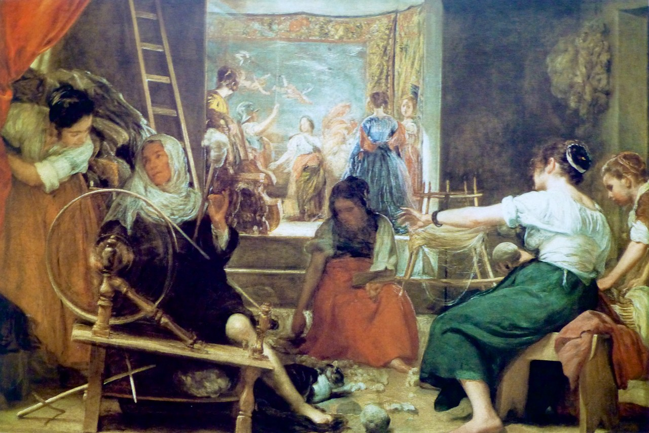 Diego Velázquez, Las Hilanderas, olio su tela, 1655