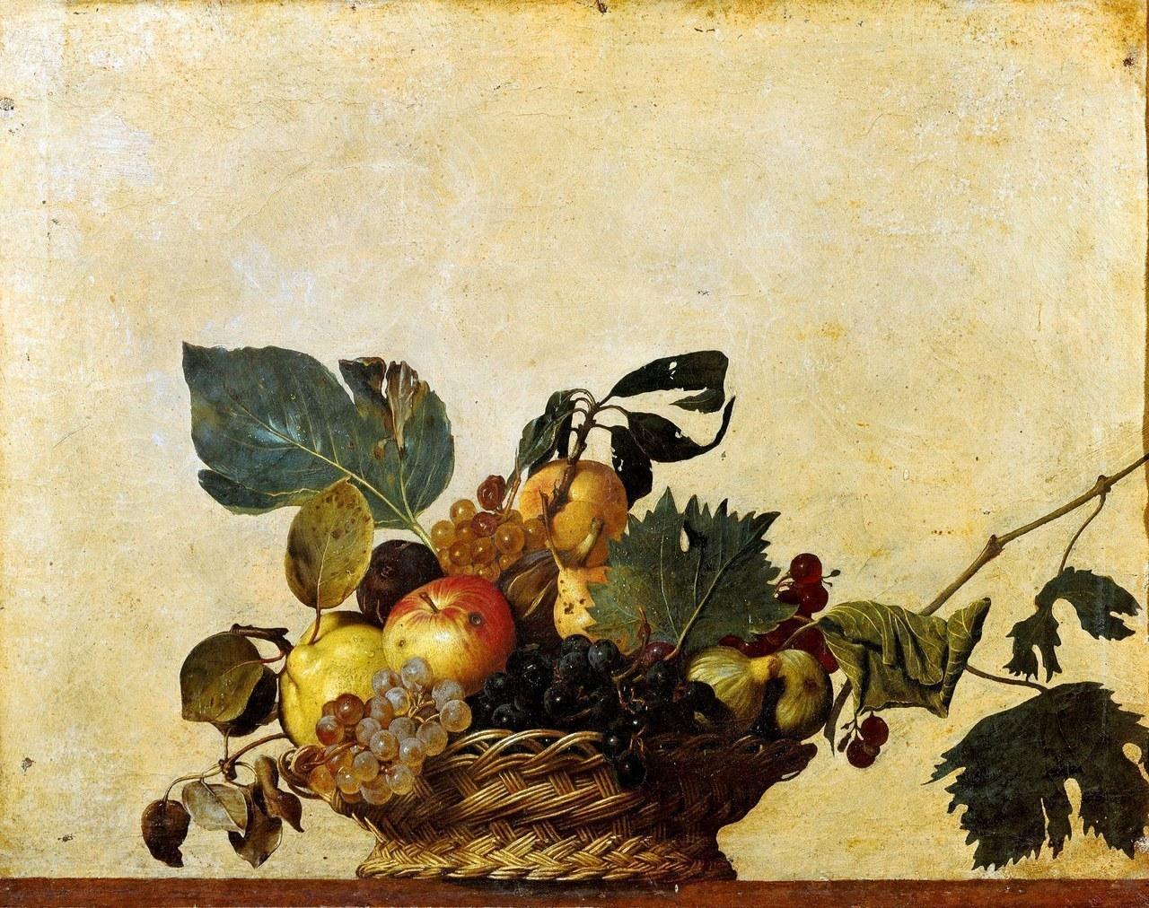 Caravaggio, Canestra di frutta, olio su tela, 1599 ca.