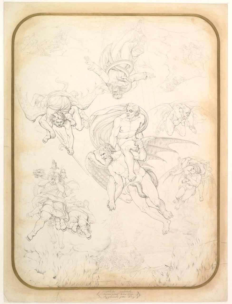 Tommaso Piroli (1752-1824) disegno dal Giudizio Universale di Michelangelo, New York, Metropolitan Museum