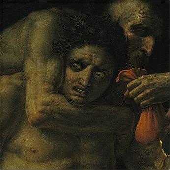 A.-L. Girodet, Scène de Déluge, dettaglio, 1806, Paris, Musée du Louvre