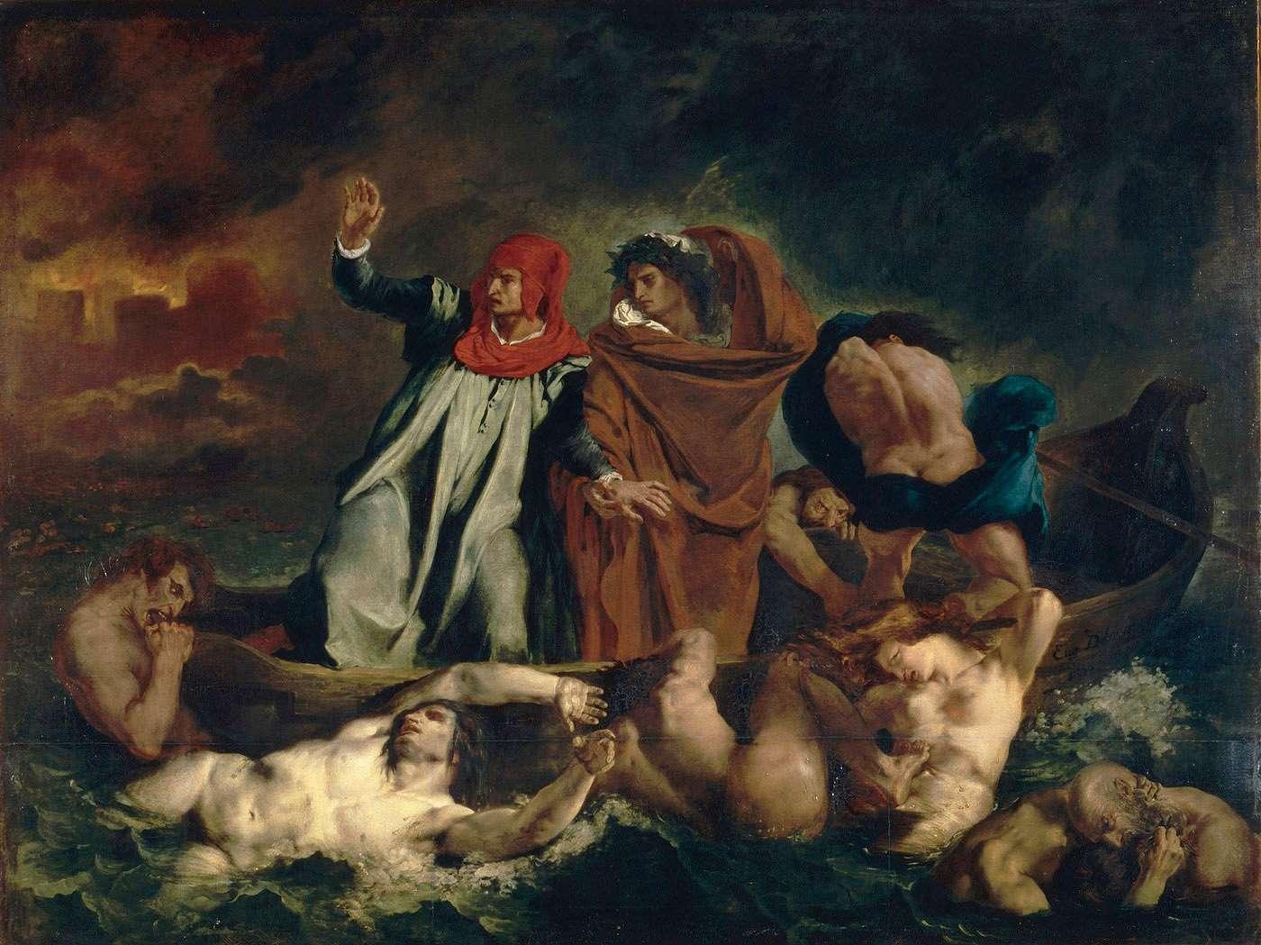 Delacroix, Dante et Virgile