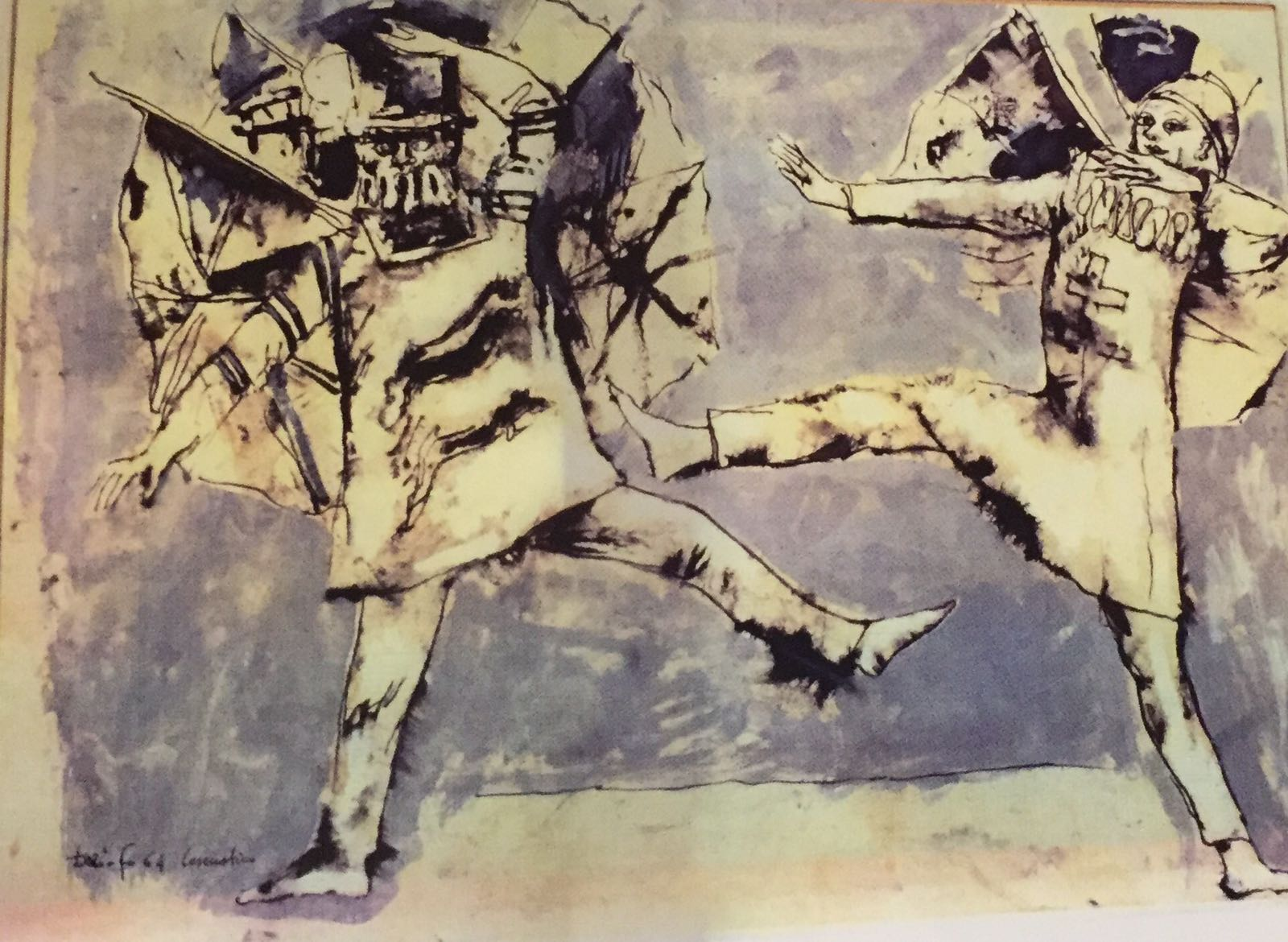 Disegno preparatorio per lo spettacolo Settimo ruba un po' meno, 1964 © Archivio Franca Rame-Dario Fo