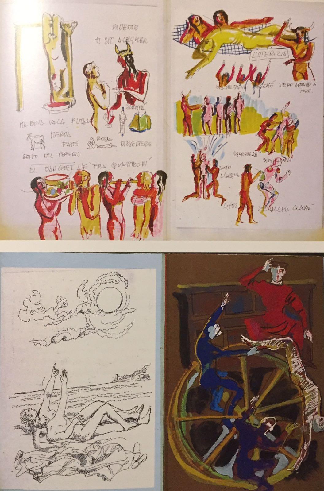 Album dei disegni per lo spettacolo Johan Padan a la descoverta de le Americhe, 1991 © Archivio Franca Rame-Dario Fo