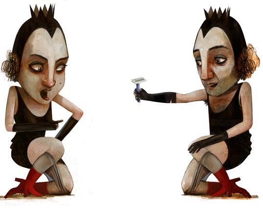 Gli alti e bassi di Biancaneve, illustrazione di Maria Cristina Costa (2012)
