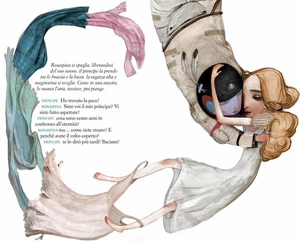 La bella Rosaspina addormentata, illustrazione di Maria Cristina Costa (2013)
