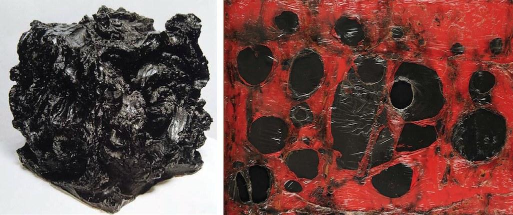 Lucio Fontana, Ceramica Spaziale, 1949 - Alberto Burri, Rosso Plastica M3, 1961