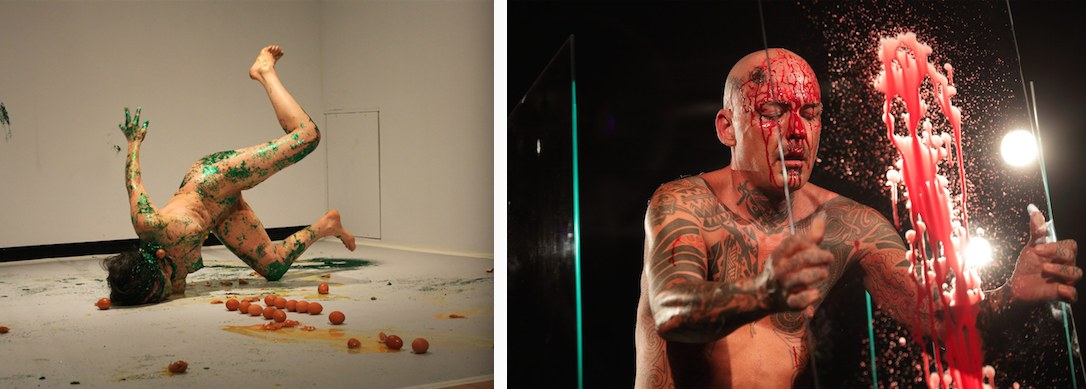 Kira O' Reilly, da Untitled (Slick Glittery), 2014 - Ron Athey, da Self Obliteration, 2011