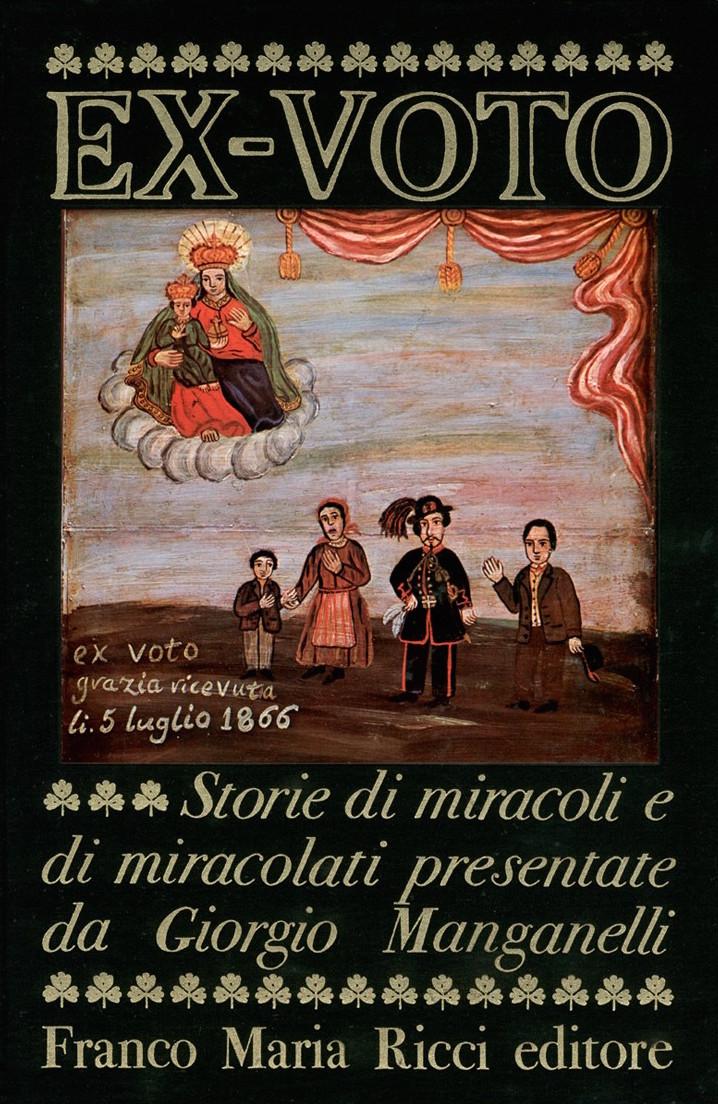 Copertina del volume Ex-voto. Storie di miracoli e di miracolati, Franco Maria Ricci, 1975