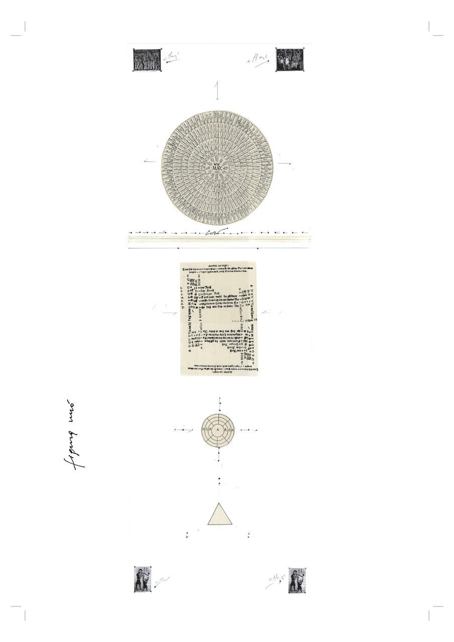 La mappa di Cesare Ronconi che segna l'avvio del lavoro di Giuramenti e, al contempo, del percorso interno all'Album dei Giuramenti. © Teatro Valdoca