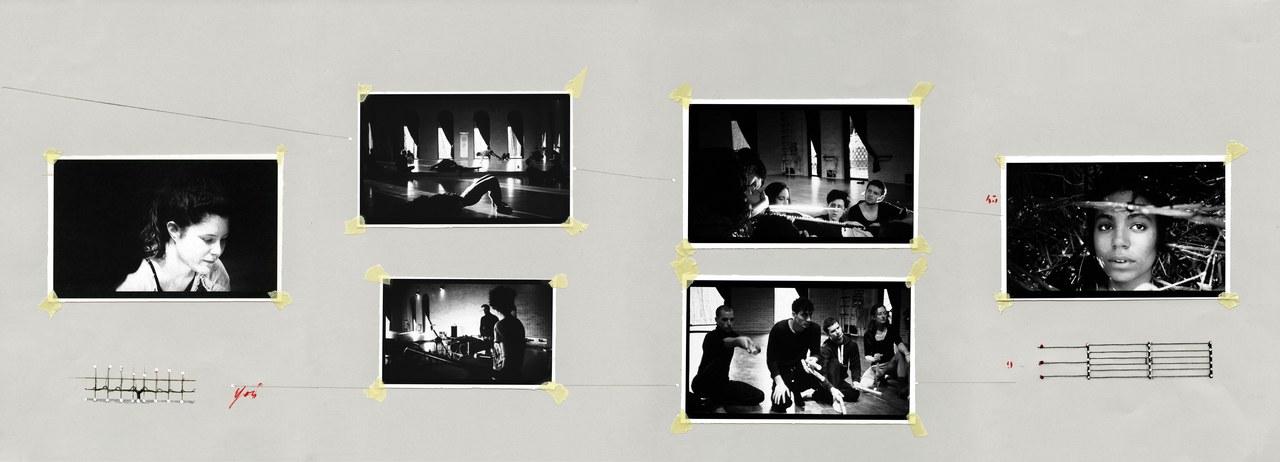 Prima tavola di Cesare Ronconi tratta da Tavole dei Giuramenti, realizzata a partire dai fermo-immagini da Gli indocili di Ana Shametaj. © Teatro Valdoca