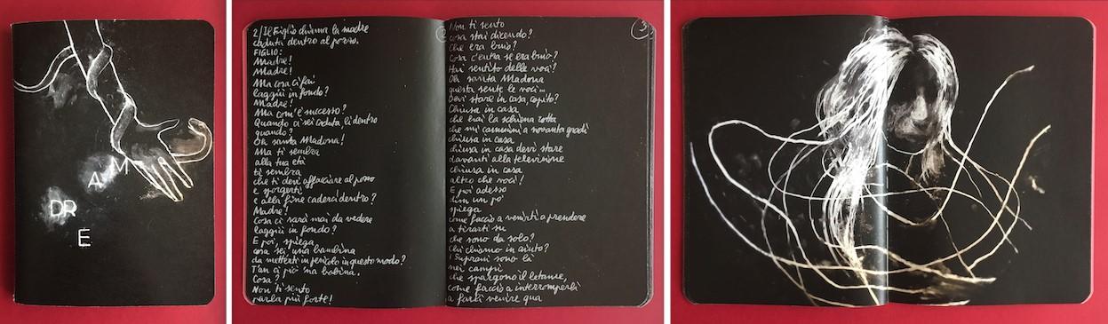 Copertina e pagine tratte dal quaderno realizzato da Stefano Ricci per Madre © Stefano Ricci