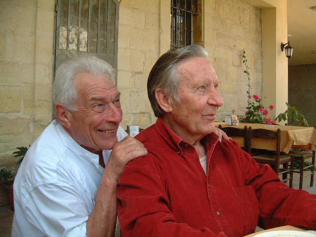 Ramallah, maggio 2003. Jean Mohr&John Berger. Foto di Maria Nadotti. Courtesy Maria Nadotti