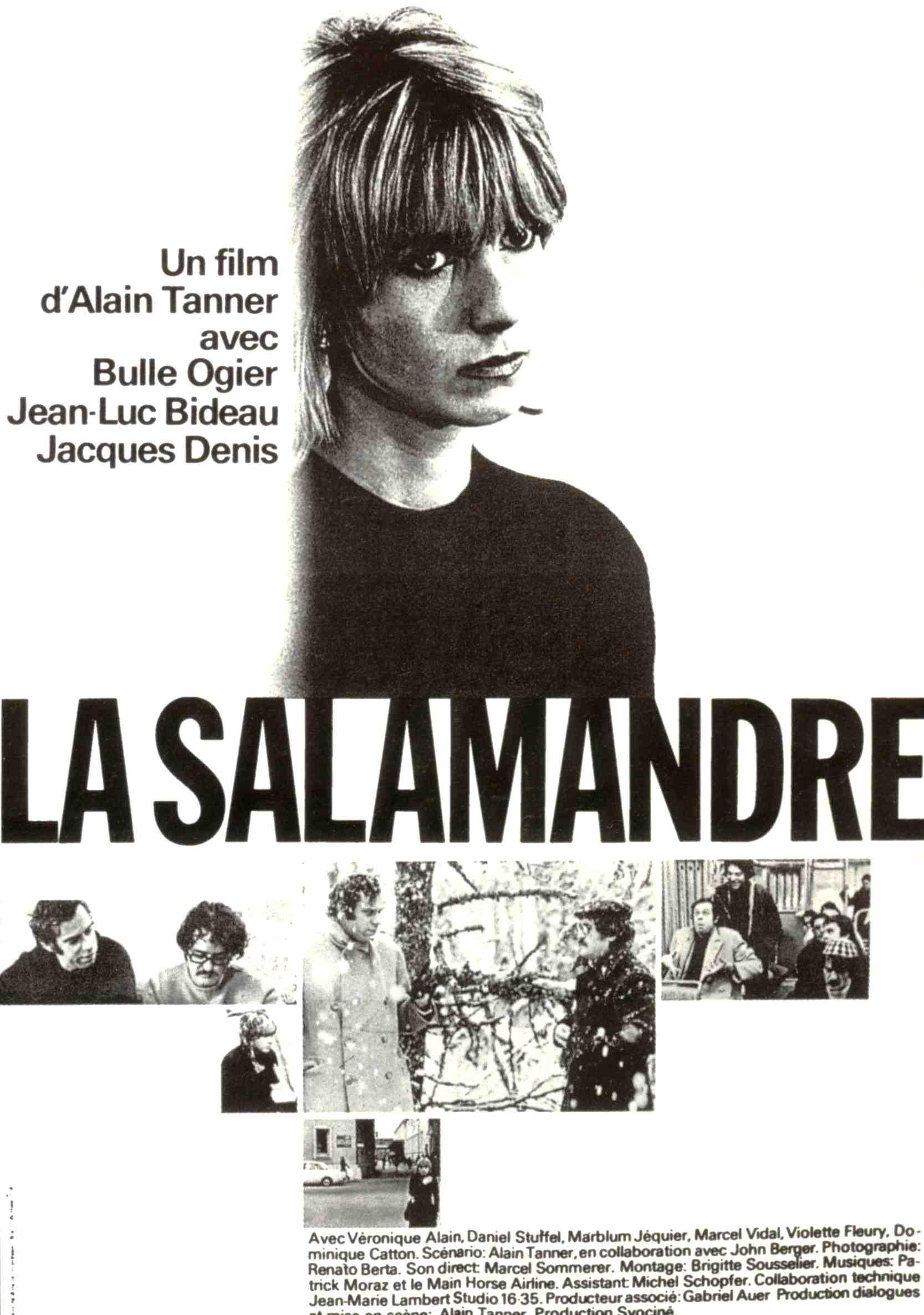 La Salamandre (1971), regia di Alain Tanner, sceneggiatura di Alain Tanner e John Berger