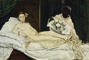 Édouard Manet, Olympia, 1863, olio su tela, Musée d'Orsay
