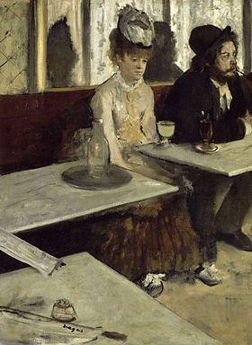 Edgar Degas, Dans un café, 1873, olio su tela, Musée d'Orsay