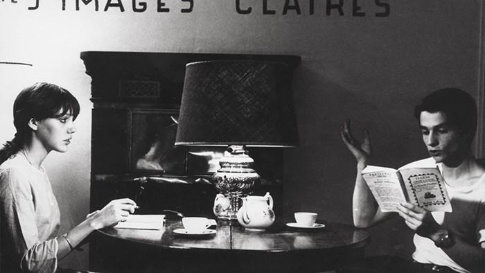 Fig. 5 Anne Wiazemsky e Jean-Pierre Leaud in una scena di La chinoise