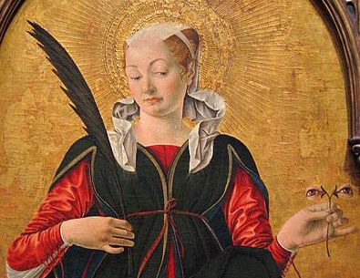Francesco del Cossa, Santa Lucia, 1472-1473, National Art Gallery, Washington