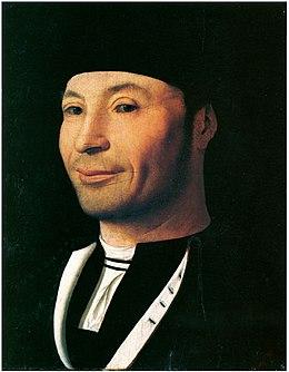 Antonello da Messina, Ritratto d'ignoto, olio su tavola, 1465-1476
