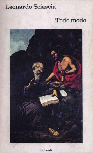 Rutilio Manetti, La tentazione di Sant'Antonio (1630). Illustrazione di copertina per la prima edizione di Todo modo, Torino, Einaudi, 1974