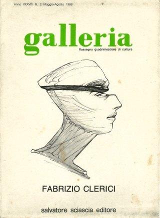 Copertina di «Galleria», fascicolo dedicato a Fabrizio Clerici, 1988