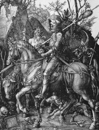 Albrecht Dürer, Ritter, Tod und Teufel, incisione su rame, 1513
