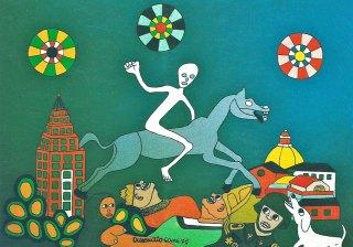 Crescenzio Cane, Il trionfo della vita, olio su tela, 1975