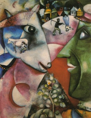 Marc Chagall, Moi et le Village, olio su tela, 1911