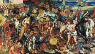 Renato Guttuso, Fuga dall'Etna, olio su tela, 1939  Guttuso by SIAE