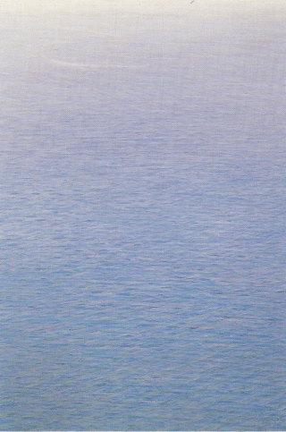 Piero Guccione, Mare verticale, olio su tela, 1985-1987