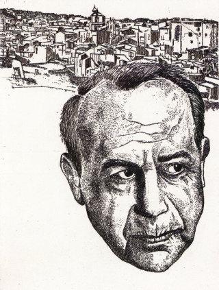 Nicolò D'Alessandro, Ti so della mia terra, acquaforte, 1990