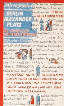 Alfred Döblin, Berlin Alexanderplatz, Berlin, S. Fischer Verlag, 1929 (copertina progettata da Georg Salter)