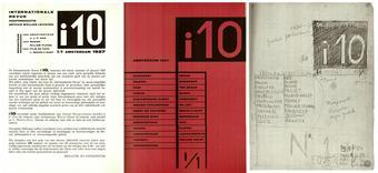 Copertine e bozze della rivista internazionale i10, Amsterdam, 1927-1929 da un reprint realizzato da Arthur Lehning, Nendeln, Kraus Reprint, 1979