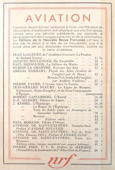 Antoine de Saint-Exupéry, Terre des hommes, Paris, Gallimard, 1939