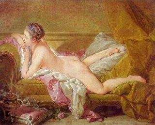 François Boucher, Odalisque Blonde, olio su tela, 1752