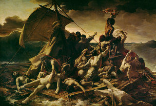 Théodore Géricault, Le Radeau de la Méduse, olio su tela, 1818-1819