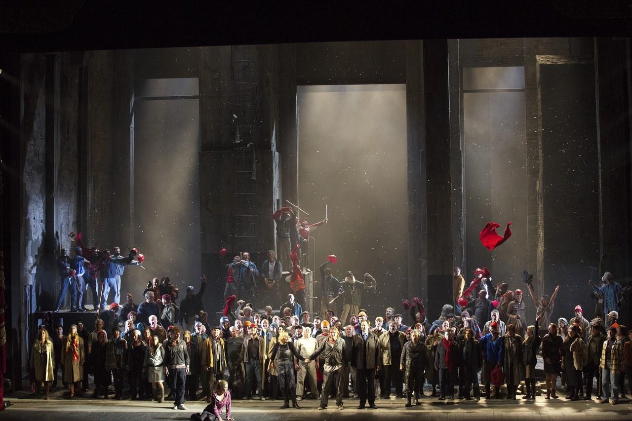 Fidelio, regia di Deborah Warner, 2014. Foto Brescia e Amisano © Teatro alla Scala di Milano