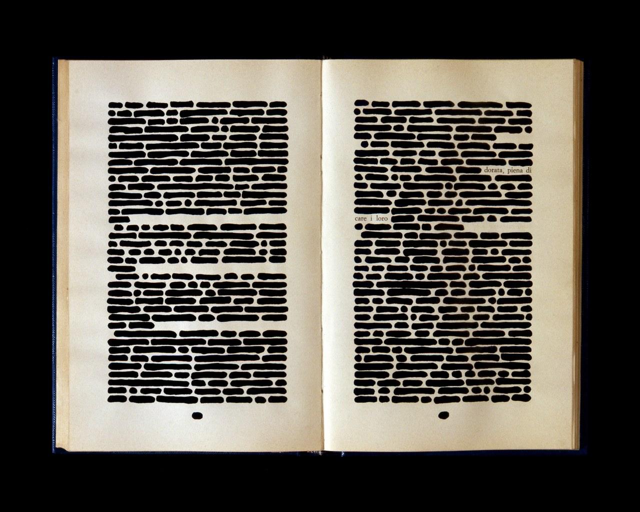Emilio Isgrò, Libro cancellato, 1974