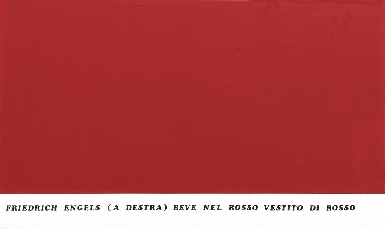 Emilio Isgrò, Dittico Marx-Engels (destra) 1974