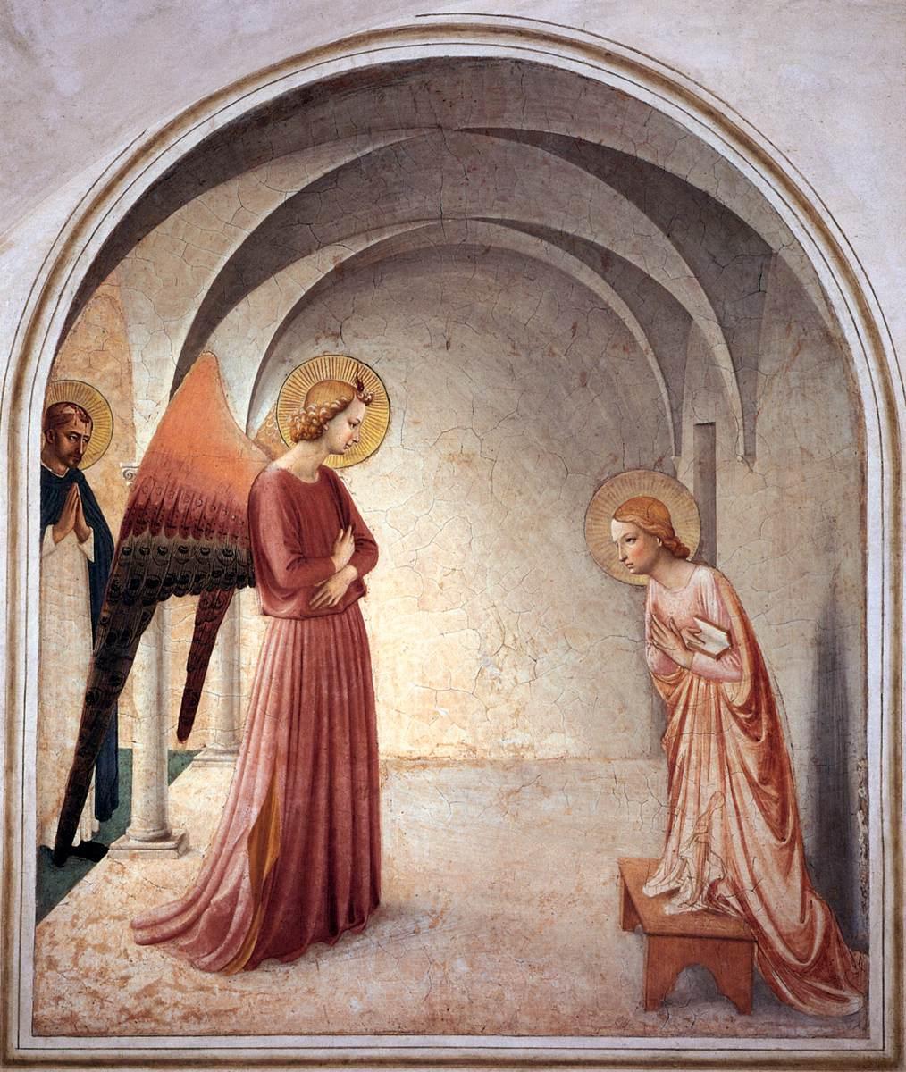 Beato Angelico, Annunciazione, 1438-40, Convento di San Marco, Firenze